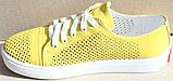 Кроссовки желтые женские кожаные от производителя модель АНЖ308, фото 3