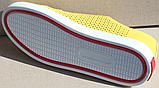 Кроссовки желтые женские кожаные от производителя модель АНЖ308, фото 4