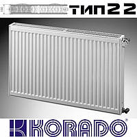 Радиатор стальной KORADO 22 тип 400x1800 мм (боковое подключение)