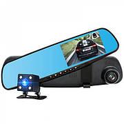 Видеорегистратор зеркало с камерой заднего вида Vehicle Blackbox DVR Full HD
