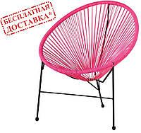 Кресло Acapulco ротанг розовый AMF (бесплатная адресная доставка)