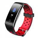 Фитнес браслет Smart Band MX Q8S Тонометр (Color Screen) Красный, фото 4