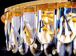 Незвичайна кришталева світлодіодна люстра 9602/500, фото 3