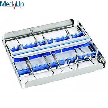 Касета EASY CLIP 15 для 15 стоматологічних інструментів. Синій силікон, 182912.2
