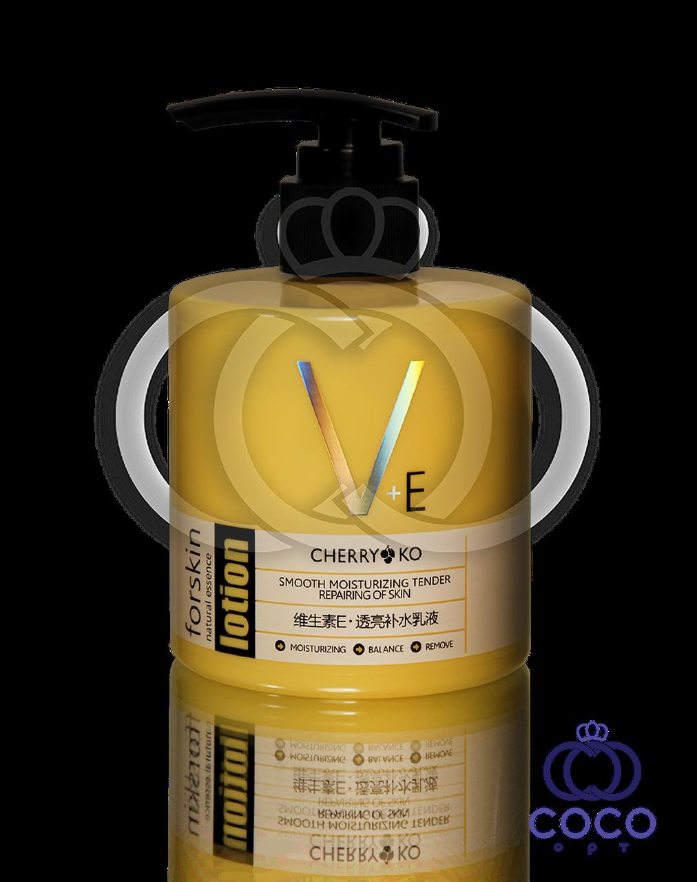 Корейский лосьон для лица и тела с витаминным комплексом и маслом Ши V+E Lotion