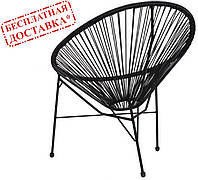 Кресло Acapulco ротанг черный AMF (бесплатная адресная доставка)