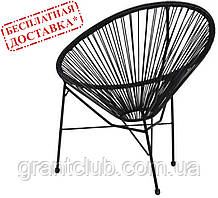 Крісло Acapulco ротанг чорний AMF (безкоштовна адресна доставка)