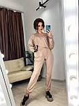 Женский спортивный костюм с топом с капюшоном и штанами на манжетах 7205918, фото 2