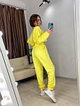 Женский спортивный костюм с топом с капюшоном и штанами на манжетах 7205918, фото 4