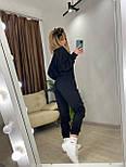 Женский спортивный костюм с топом с капюшоном и штанами на манжетах 7205918, фото 6