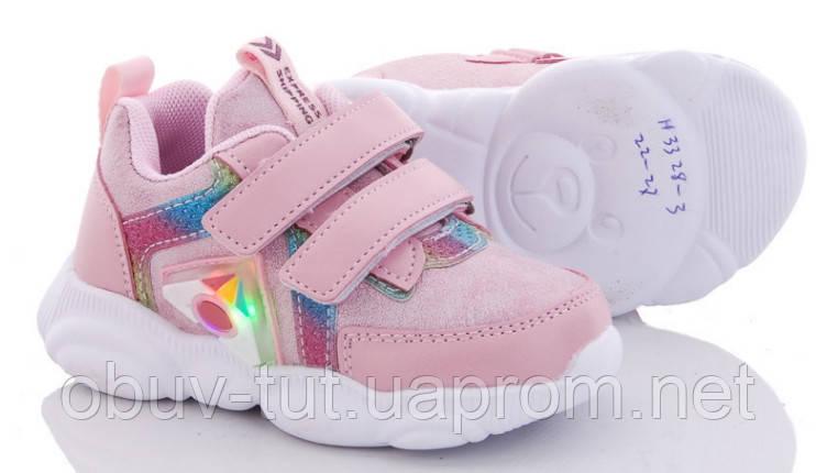Нові дитячі кросівки з LED підсвічуванням, розміри 22-27