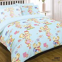 Комплект постельного белья для детской кроватки Viluta Ранфорс 4457 голубой