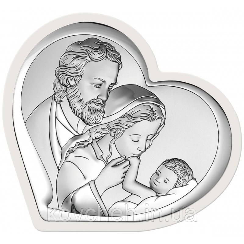"""Икона серебряная """"Святое Семейство"""" 19,3х18"""