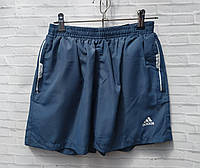 """Шорты пляжные плащевые детские для мальчика """"Adidas"""" 7-11 лет, джинсового цвета, фото 1"""