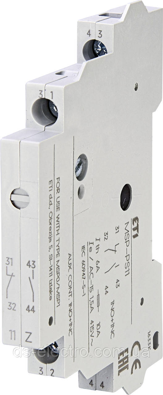 Блок-контакт для автоматов ETI MSP