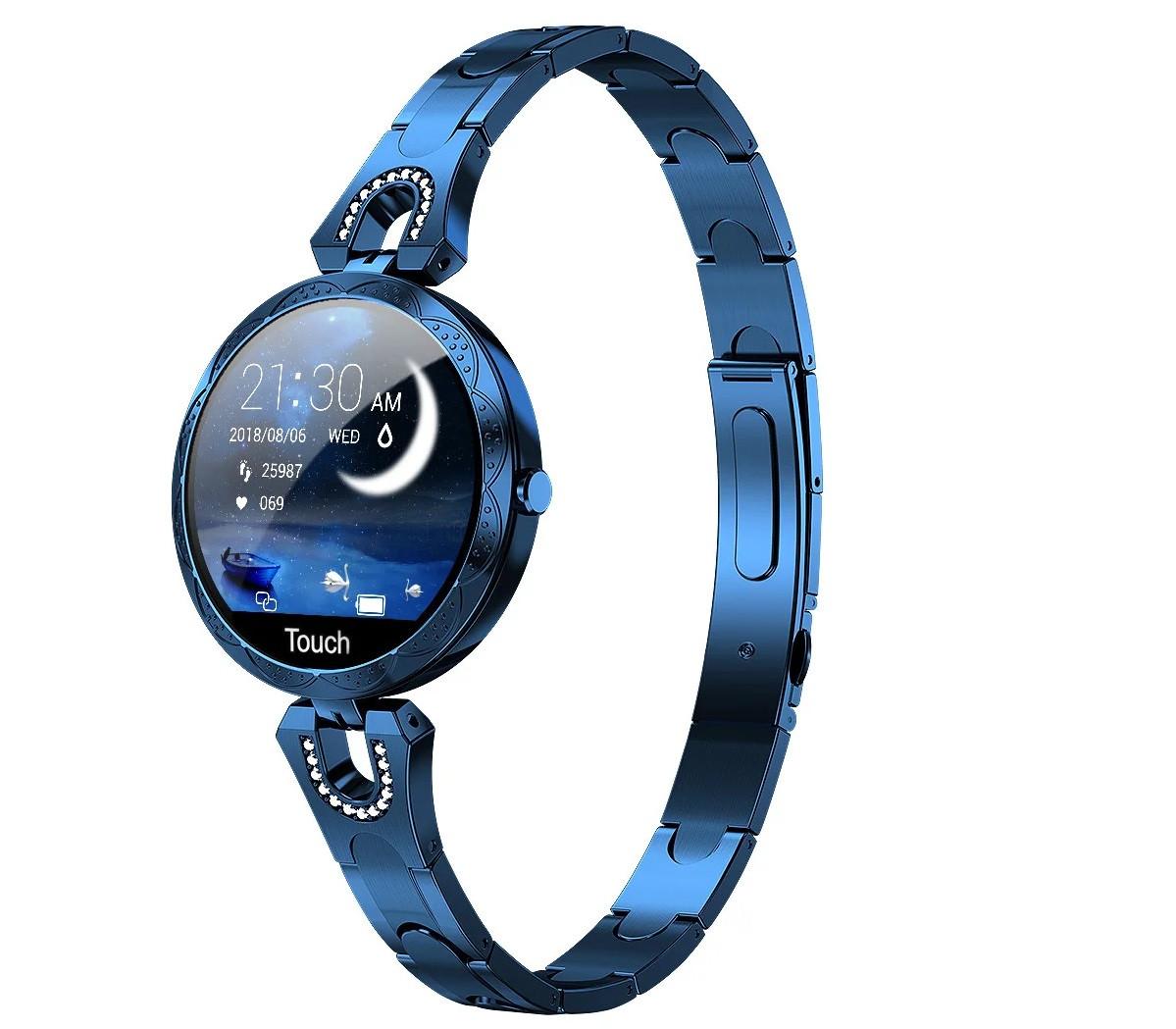 Жіночі розумні фітнес годинник Smart band Colmi AK15 Blue