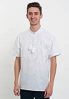 Вишиванка на короткий рукав з білою вишивкою, фото 1