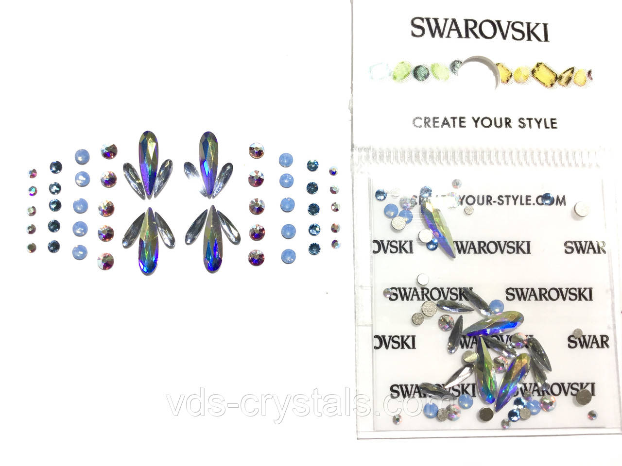 Набор Swarovski Crystal Long Drop Mix