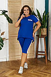 Летний женский костюм:футболка и бриджи,размеры:48-50,52-54,56-58., фото 4
