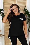 Летний женский костюм:футболка и бриджи,размеры:48-50,52-54,56-58., фото 7