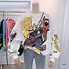 Женский трикотажный свитшот оверсайз с рисунками 77KF834