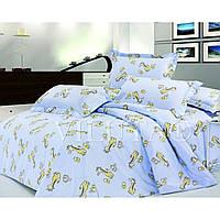 Комплект постельного белья для детской кроватки Viluta Ранфорс 5507  голубой