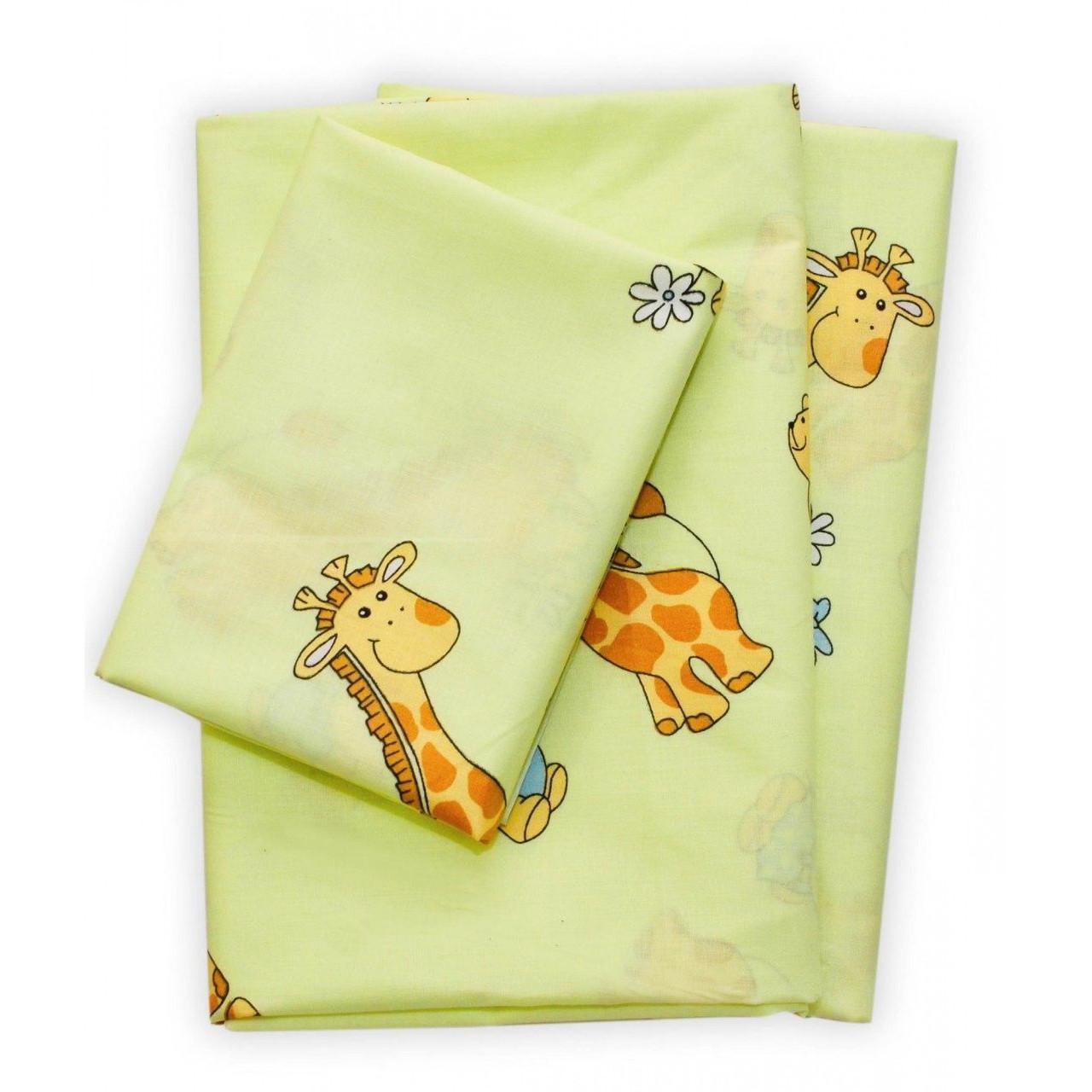 Комплект постельного белья для детской кроватки Viluta Ранфорс 5507 зеленый