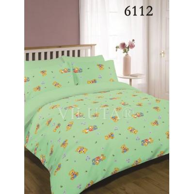 Комплект постельного белья для детской кроватки Viluta Ранфорс 6112 зелений
