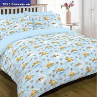 Комплект постельного белья для детской кроватки Viluta Ранфорс 7823 голубой