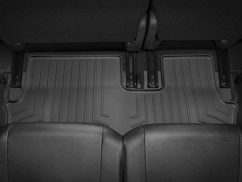 Ковры резиновые WeatherTech Mitsubishi Outlander 2015+ третьего ряда черный