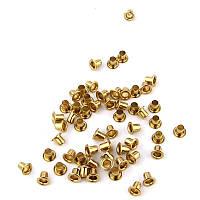 Люверсы Блочки для рукоделия 2,5мм золото, 25шт в наборе