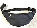 Сумка на пояс или через плечо бананка поясная мужская женская удобная модная барсетка Найк черная, фото 6