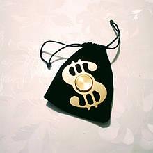 Дизайнерский спиннер Hand Fidget Spinner «Dollar» золото