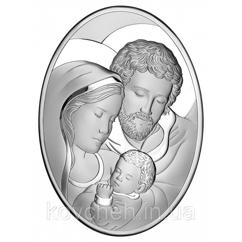 """Ікона срібна """"Святе Сімейство"""" 10х13"""