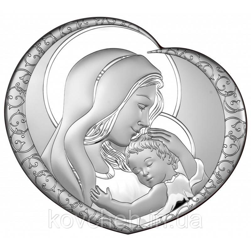 Икона Богородица с Иисусом 16,2х15