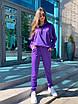 Трикотажный женский спортивный костюм со свободным худи и штанами на манжетах 63rt911, фото 2