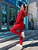 Трикотажный женский спортивный костюм со свободным худи и штанами на манжетах 63rt911, фото 3