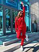 Трикотажный женский спортивный костюм со свободным худи и штанами на манжетах 63rt911, фото 5