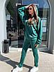 Трикотажный женский спортивный костюм со свободным худи и штанами на манжетах 63rt911, фото 6