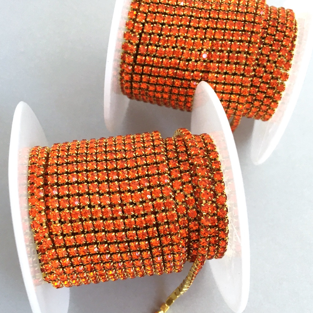 Страхова ланцюг ss6 (2 мм). Оранжевий (золото)