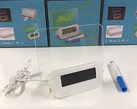 Светодиодные часы с 4 PORT USB и доской для записей+маркер  ART-1207