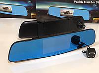 Відеореєстратор DVR A1 дзеркало з двома камерами, фото 1