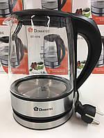 Чайник стеклянный 1.2 DOMATEC DT-1316