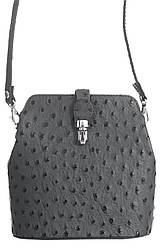Брендовий жіноча сумочка месенджер INES сіра 19 см х 19 см х 8 см