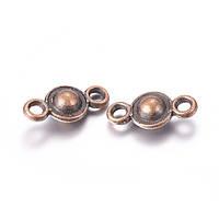 Металлический коннектор кольцо 10х5 мм медь для рукоделия
