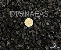 Щебень базальт черный для создания флорариумов, композиций с растениями и иного творчества