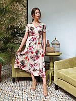 Платье в цветочный принт, фото 1
