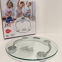 Весы электронные напольные бытовые круглые, вагі підлогові, прозрачные Domatec DT-2003A /180кг 180кг