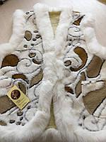 Безрукавка подвійна жіноча хутряна на овчині розмір 40, фото 1