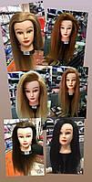 Голова манекен учебная, искуственные термо волосы для плетения и причесок, цвета в ассортименте, фото 1